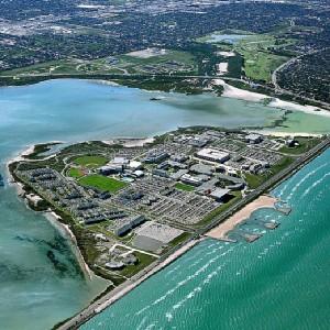 Texas A&M–Corpus Christi from an aerial view.