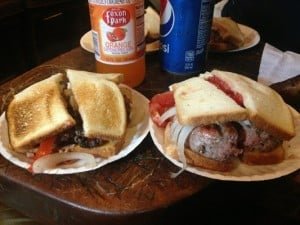 Best college town burger joints: Cheese works from Louis' Lunch