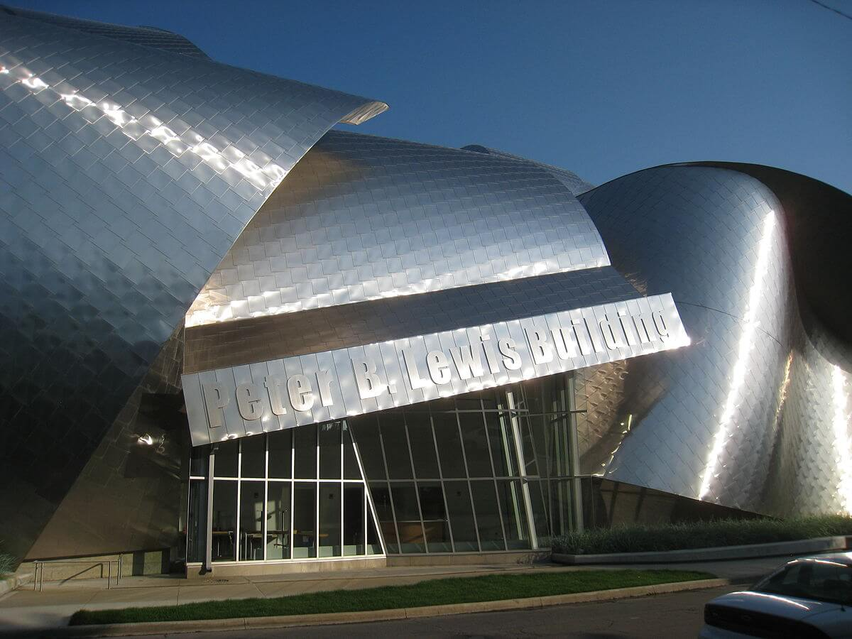 Frank Gehry designed the building for the Weatherhead School of Management.