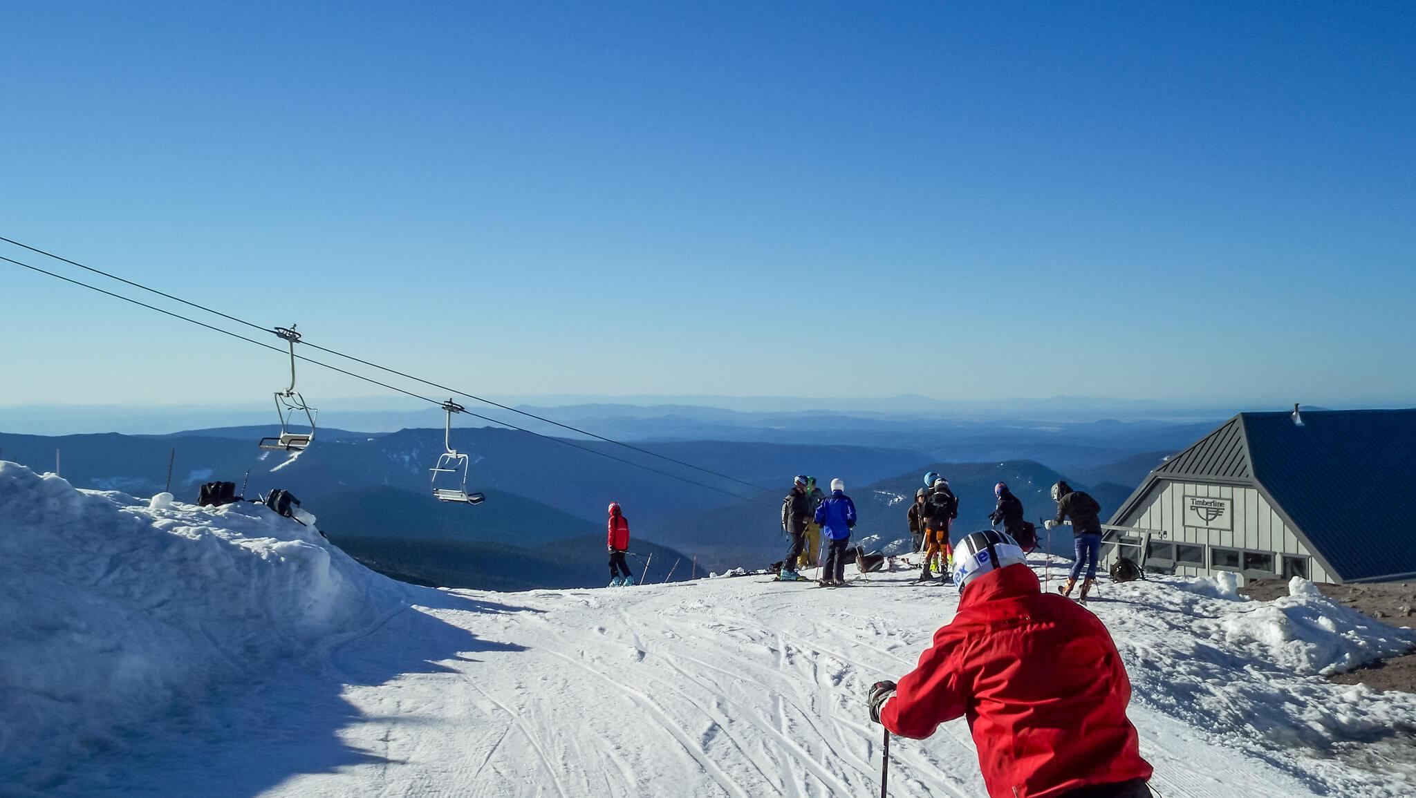 Skiing at Mt. Hood in Oregon