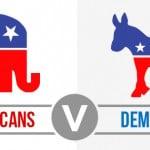Republicans Vs Democrats banner.
