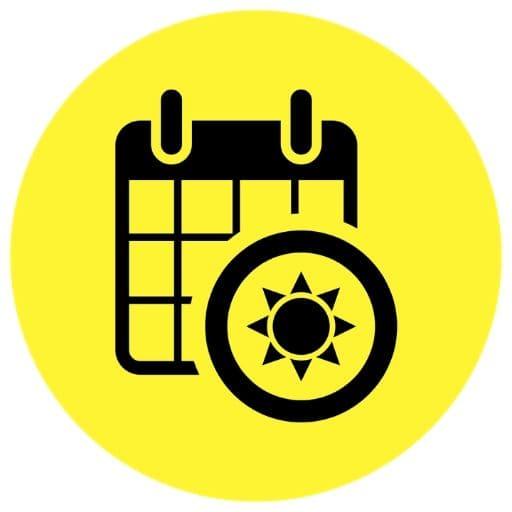 Yellow summer schedule icon