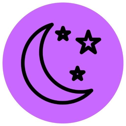 Purple moon icon