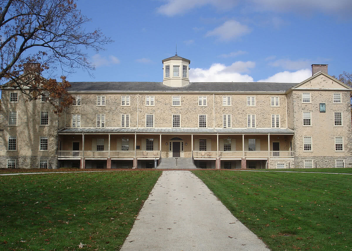 Founders Hall at the Haverford College campus.