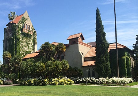 San Jose State University's ivy-covered Tower Hall.