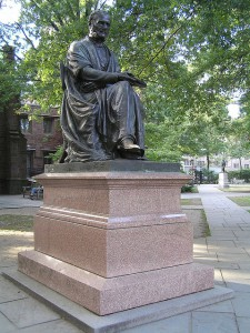 A statue of Theodore Dwight Woolsey.