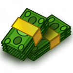 Graphic dollar bill.