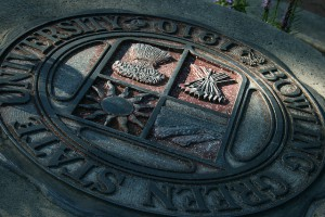Bowling Green State University's stone plate.