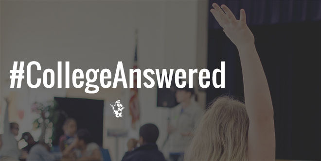Check out our first #CollegeAnswered Q&A session!
