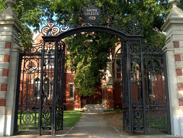 Gate entrance to Smith College.