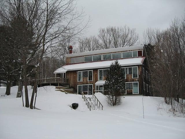 Marlboro College campus covered in snow.