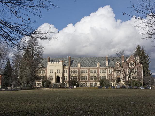 University of Idaho college campus field.