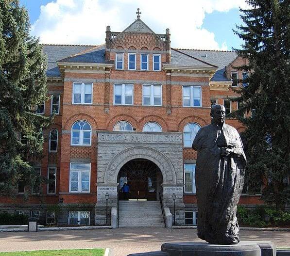 The main entrance of Gonzaga University.