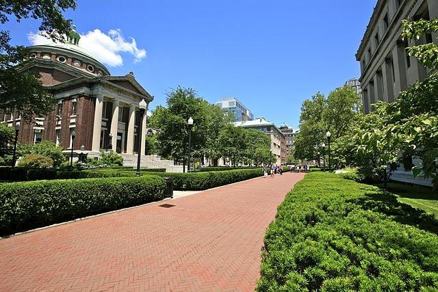 Columbia University campus walk.