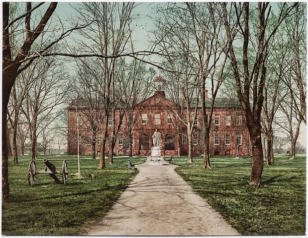 College of William and Mary on a postcard.