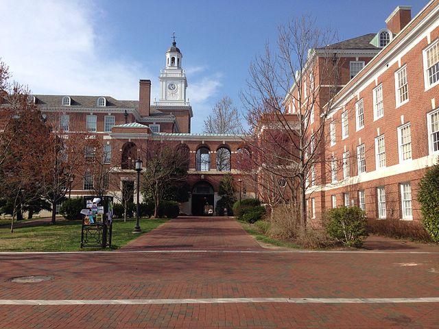 Johns Hopkins University Homewood campus from Levering Plaza.