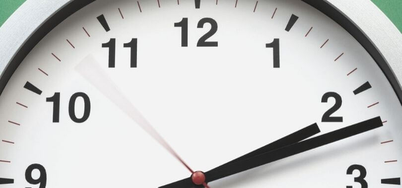A close up picture of a clock.