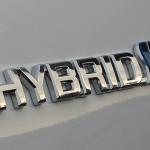 Toyota Auris Hybrid Logo.