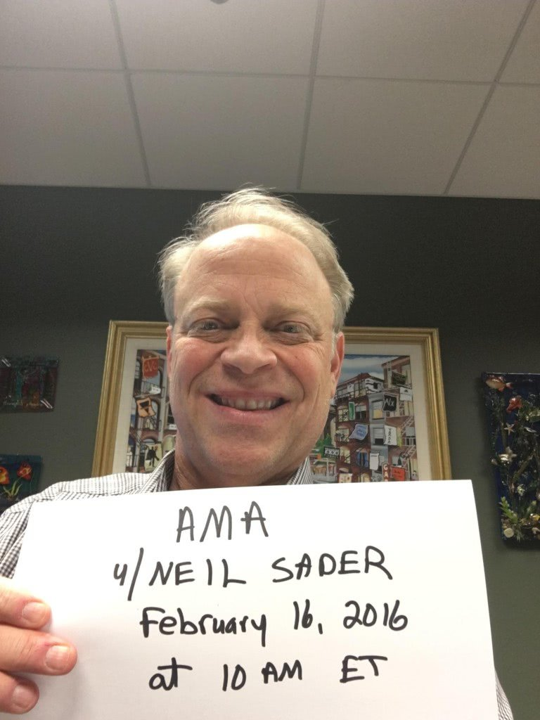 """Neil Sader did an """"ask my anything"""" on Reddit."""
