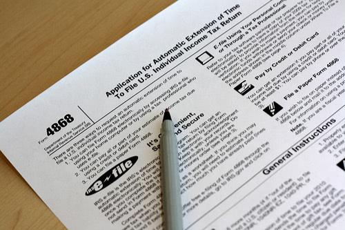 tax document photo