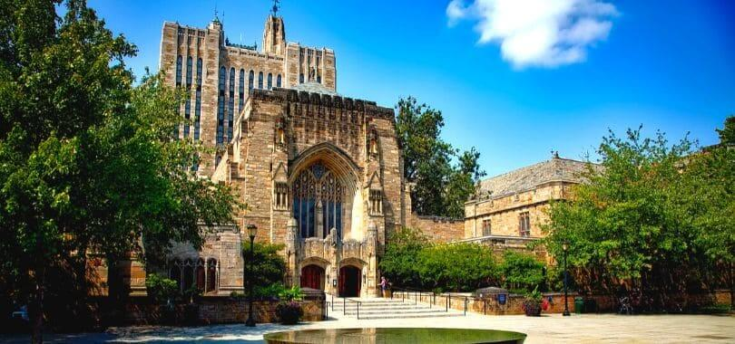 A campus building at Yale University.
