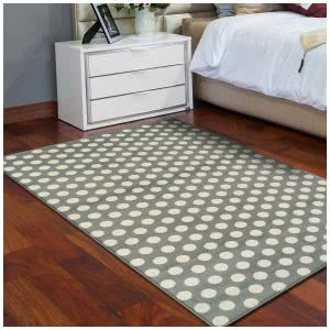 Superior area rug with polka dot design. Click to view its Amazon page.