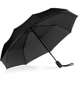 Open black umbrella by Repel. Click to view its Amazon page.