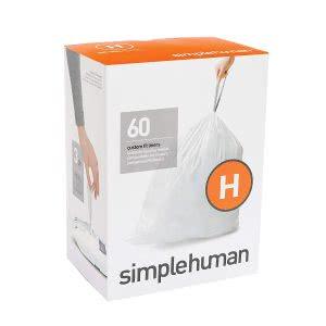 Simplehuman white drawstring trashbag. Click to view its Amazon page.