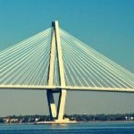 A large bridge in South Carolina, spanning across a body of water.
