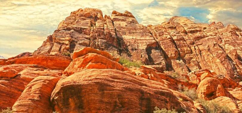 Red rock mountains in Nevada.