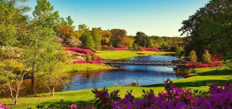 The Bellingrath Gardens in Alabama.
