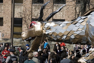 One of the weird traditions is Dragon Day.