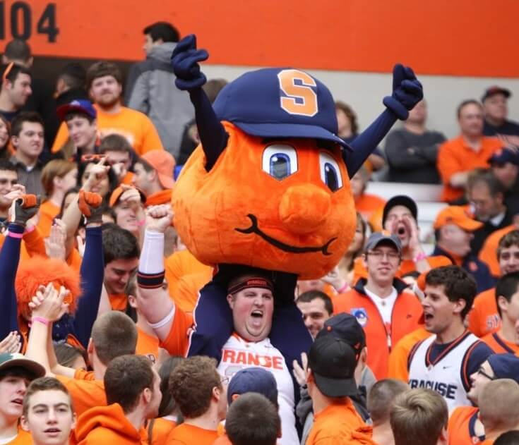 Otto the Orange is one of the weirdest college mascots.