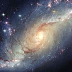 A picture of a galaxy.