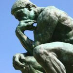 A statue of the Thinker.