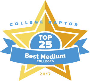 Here's our top 25 medium-sized colleges.