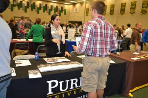 A college fair is a great place to learn more about certain colleges