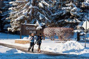 Visit a college during winter break