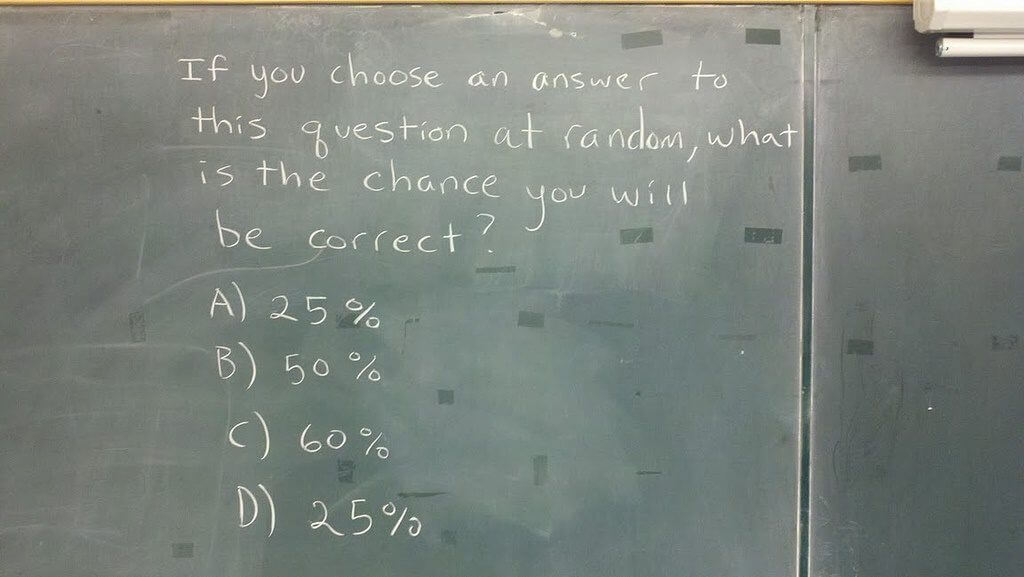 When should you guess on the ACT / SAT and what are the odds of guessing correctly?