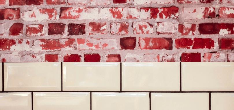 Brick and tile wall