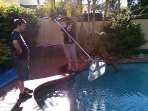 Great summer job - pool cleaner