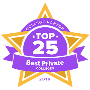 Top 25 best private colleges badge