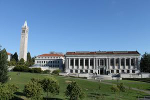 Bancroft library building at University of California Berkeley.
