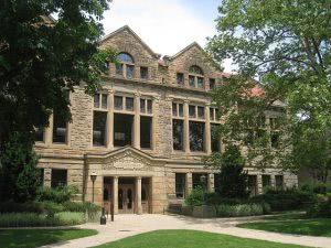 Oberlin College Carnegie campus building.