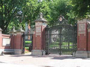 Front gates of Brown University.