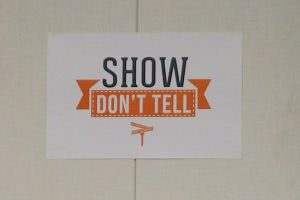 Show don't tell in your college application essays