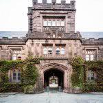 Princeton University ivy-covered hall building.