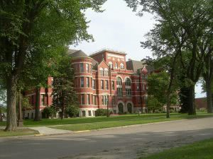 A building on the Mayville State University campus - Hidden Midwest Gems