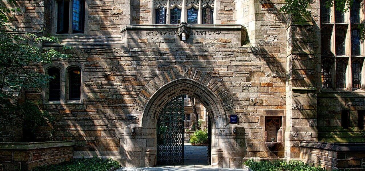Archway on a college campus.
