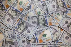 Pile of 100 dollar bills.